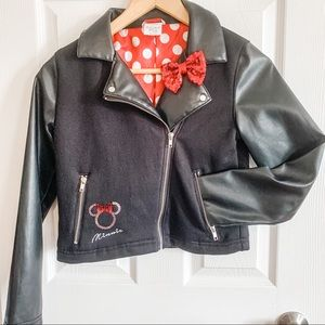 Minnie Mouse faux leather jacket size 9/10